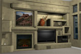 Image Of A 3d Rendering Of A Custom Home Entertainment Center