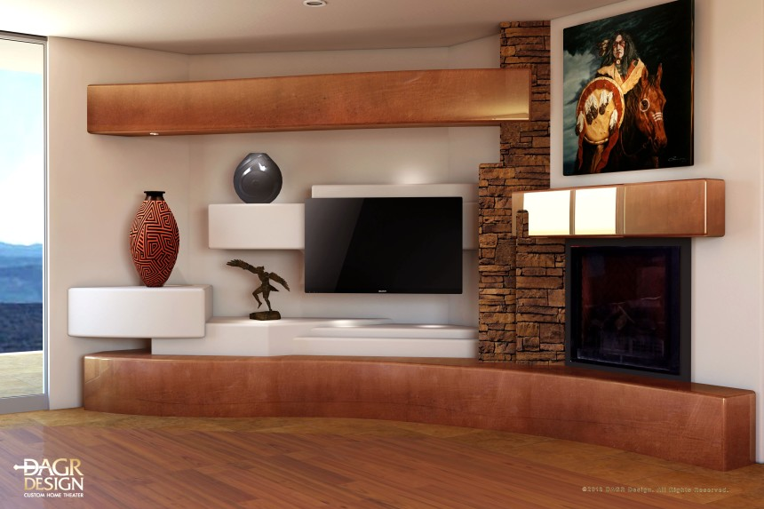 Add The Natural Style Of Stone To Your Home Entertainment