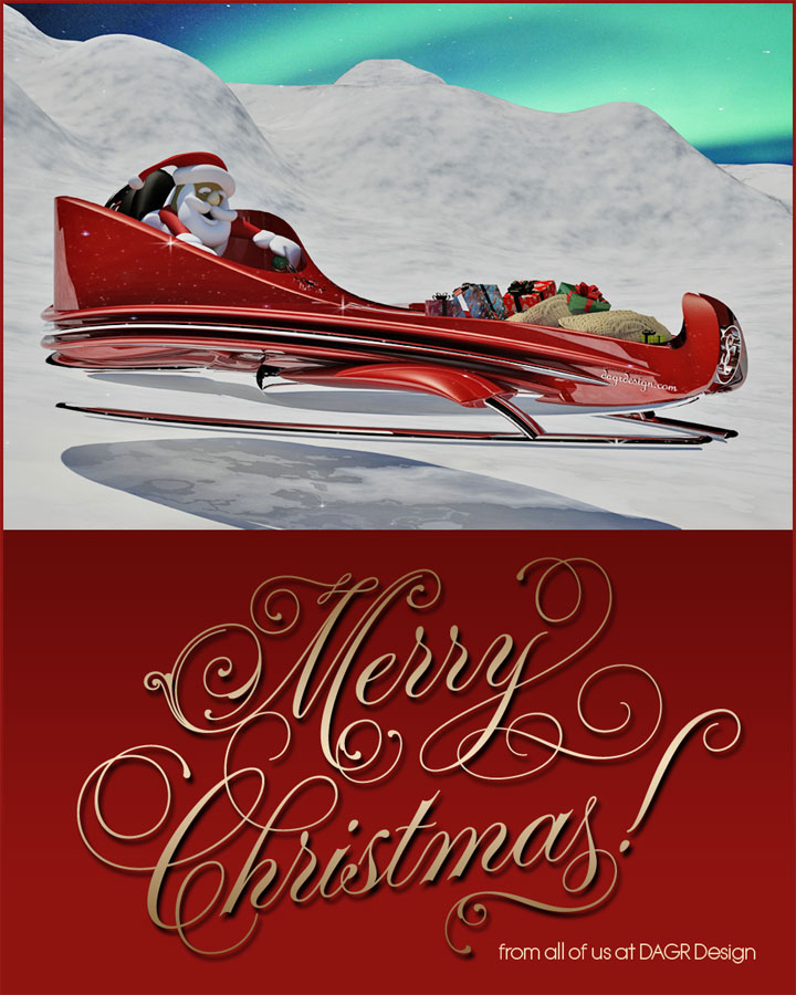 3D rendering of Santa's new super sleigh concept